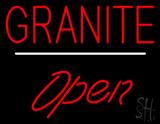 Granite Script1 Open White Line LED Neon Sign