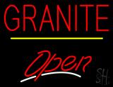 Granite Script2 Open Yellow Line LED Neon Sign