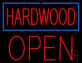 Hardwood Block Open LED Neon Sign