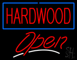 Hardwood Script2 Open LED Neon Sign