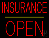 Red Insurance Block Open Yellow Line LED Neon Sign