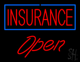 Red Insurance Open LED Neon Sign