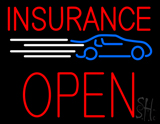 Red Insurance Open Block Car Logo LED Neon Sign