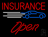 Insurance Car Logo Open LED Neon Sign