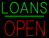 Loans Block Open Green Line LED Neon Sign