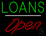 Loans Open White Line LED Neon Sign