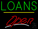 Loans Open Yellow Line LED Neon Sign