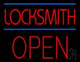 Locksmith Block Open LED Neon Sign