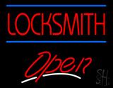 Locksmith Script2 Open LED Neon Sign