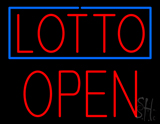 Lotto Block Open LED Neon Sign