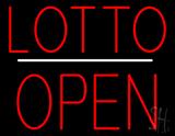 Lotto Block Open White Line LED Neon Sign