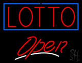 Red Lotto Open LED Neon Sign