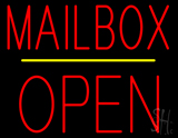Mailbox Open Block Yellow Line LED Neon Sign