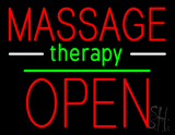 Oval Massage Therapy Open LED Neon Sign