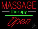 Massage Therapy Open White Line LED Neon Sign