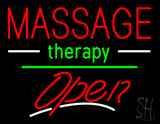 Massage Therapy Open Yellow Line LED Neon Sign