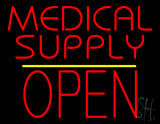 Medical Supply Block Open Yellow Line LED Neon Sign