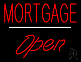 Mortgage Open White Line LED Neon Sign