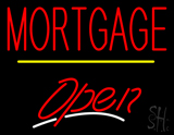 Mortgage Open Yellow Line LED Neon Sign