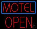 Motel Block Open LED Neon Sign