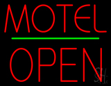 Motel Block Open Green Line LED Neon Sign
