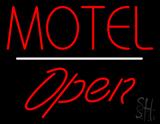 Motel Open White Line LED Neon Sign