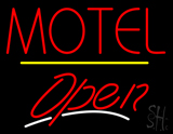 Motel Open Yellow Line LED Neon Sign