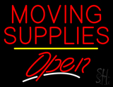 Moving Supplies Open Yellow Line LED Neon Sign