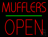 Mufflers Open Block Green Line LED Neon Sign