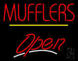 Mufflers Open Yellow Line LED Neon Sign