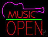 Music Green Line Open Block LED Neon Sign