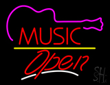 Music Logo Open Yellow Line LED Neon Sign