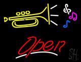 Music Logo Open LED Neon Sign