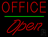 Office Open Green Line LED Neon Sign