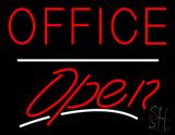 Office Open White Line LED Neon Sign