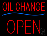 Oil Change Open Block LED Neon Sign