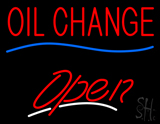 Red Oil Change Open LED Neon Sign