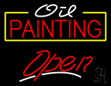 White Oil Red Painting Open LED Neon Sign