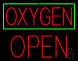 Oxygen Green Border Block Open LED Neon Sign
