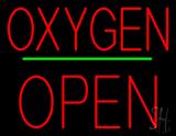 Oxygen Block Open Green Line LED Neon Sign