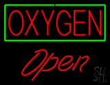 Red Oxygen Green Open LED Neon Sign