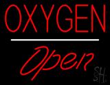 Oxygen Open White Line LED Neon Sign
