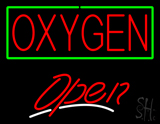 Red Oxygen Open LED Neon Sign