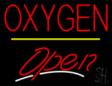 Oxygen Open Yellow Line LED Neon Sign