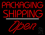 Packaging Shipping Open White Line LED Neon Sign