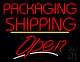 Packaging Shipping Open Yellow Line LED Neon Sign