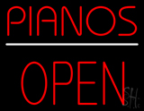 Pianos Open Block LED Neon Sign