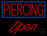 Piercing Blue Border Open LED Neon Sign