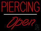 Piercing Open White Line LED Neon Sign