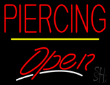Piercing Open Yellow Line LED Neon Sign